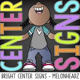 bright CHALK {melonheadz} - Classroom Decor: Center Signs