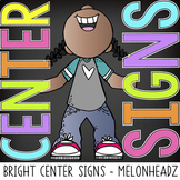 bright CHALK {melonheadz} - Classroom Decor: Center Signs
