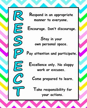 bright chevron RESPECT poster