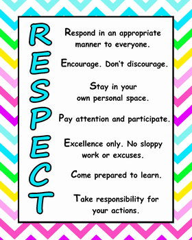 bright chevron RESPECT poster