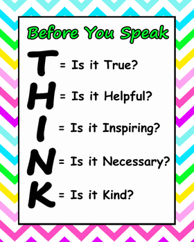 bright chevron THINK poster