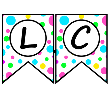 bright chevron and polka dot WELCOME banners