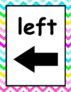 bright chevron and polka dot left right posters