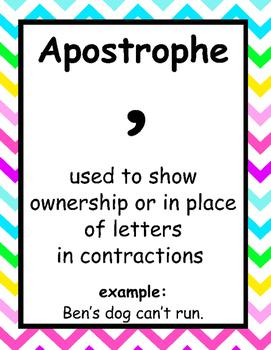 bright chevron punctuation posters
