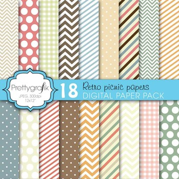 bright colors digital paper, commercial use, scrapbook pap