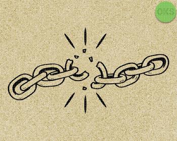 broken chain Svg file, instant download, digital download, cutting file, svg cli