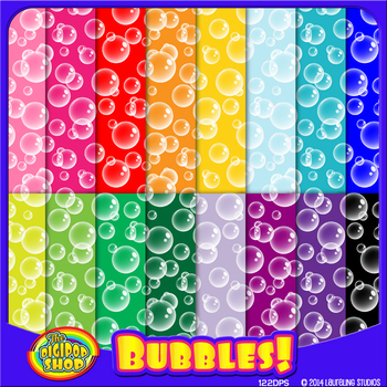 "bubble digital paper // printable .jpg 12""x12"""