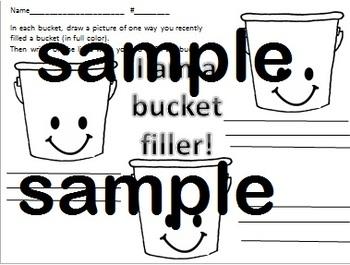 bucket filler i am a bucket filler draw and write