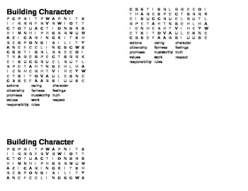 building character word find