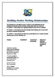 building positive working relationships
