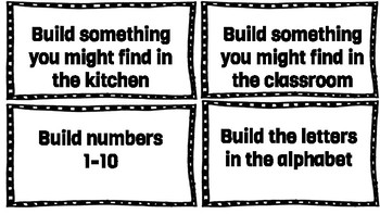 building/tinkering task cards