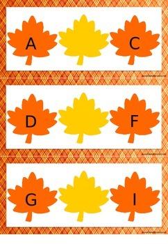 Übung zum Alphabet - Welcher Buchstabe fehlt? {Mitte}