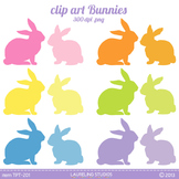 Bunny clipart silhouettes .png files
