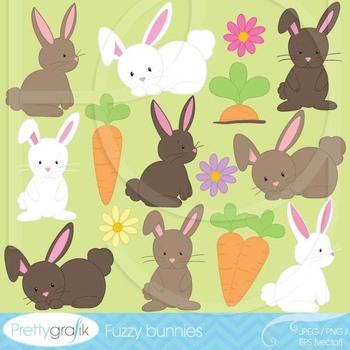 bunny clipart commercial use, vector graphics, digital clip art - CL507