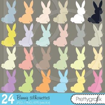 bunny rabbit clipart commercial use, vector graphics, digital clip art - CL508