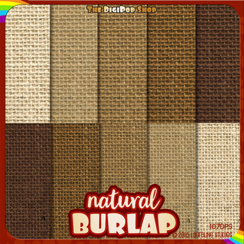 rustic burlap digital paper - textured burlap digital background printable