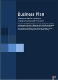 business plan for initiatives, entrepreneurship and innovation