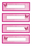 butterfly themed labels