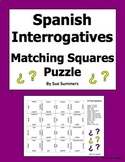 Spanish Interrogatives Matching Squares Puzzle - Spanish Question Words