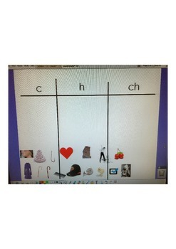 c, h, ch interactive word study sort