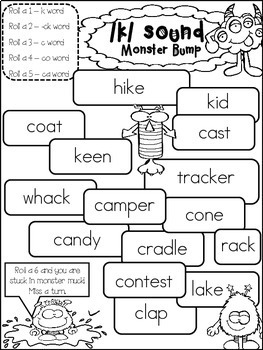 c, k, and -ck Mini Reader and activity packets