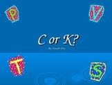 c or k phonics spelling rule PPT Flipchart