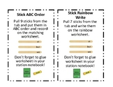 Sight Word Stick Instruction Cards and Recording Sheets