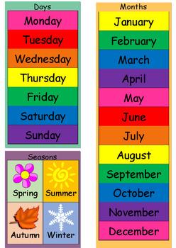 calendar Printable  color theme