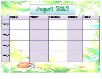 calendar for teachers ~ ladybug-themed
