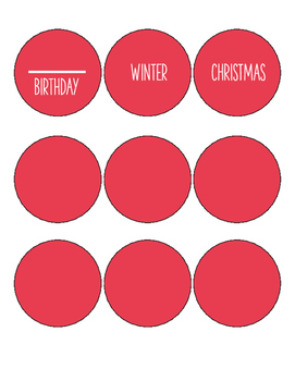 calendar labels