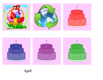 calendar month and days - April only