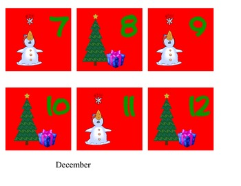calendar month and days - December only