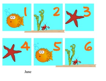 calendar month and days - June only