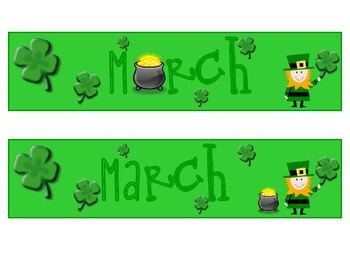 calendar month and days - March only