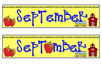 calendar month and days - September only