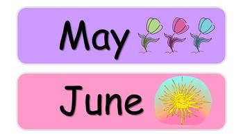 months pastel