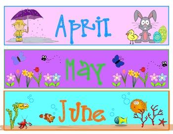 calendar months and days BUNDLE