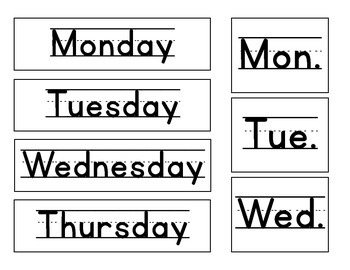 calendar pieces | yesterday, today, tomorrow, special schedule