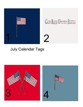 calendar tags-july