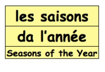 Days, Months & Seasons Calendar in 5 languages