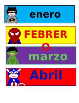calendario de superheroes