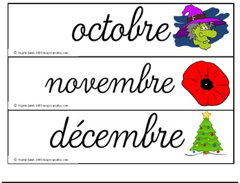 calendrier (cursif) - calendar