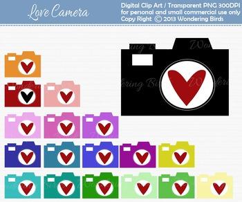 camera clip art - set of 18 clip arts
