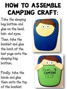 Camping craftivity