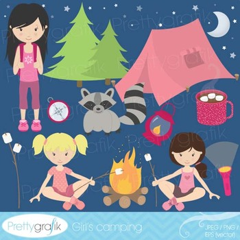 camping clipart commercial use, vector graphics, digital clip art - CL521