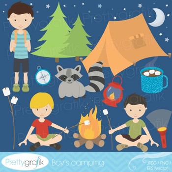 camping clipart commercial use, vector graphics, digital c