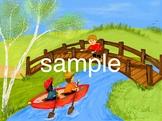 camping stick kids picture: bridge