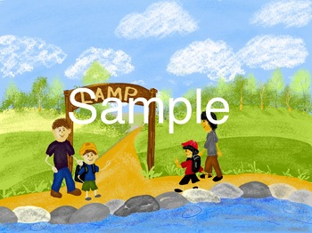 camping stick kids picture: first day of camp
