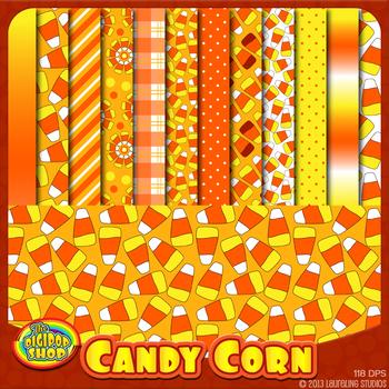 candy corn digital paper - printable paper for fall festiv