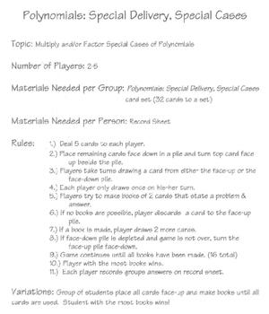 card games, factoring, algebra, Cindy Boyd